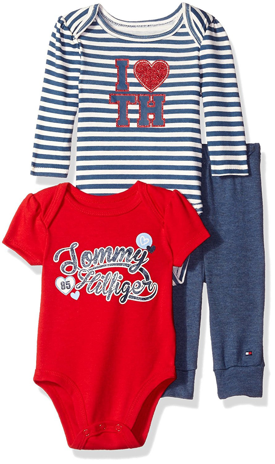 4e0f095c Tommy Hilfiger Baby Girls' 3 Piece Creeper Pants Set – Munchkinz