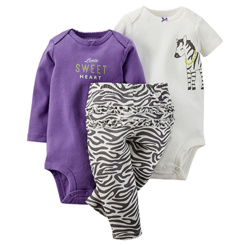 Baby Girl (NB-24M) Carter's Sweet Heart Zebra Set