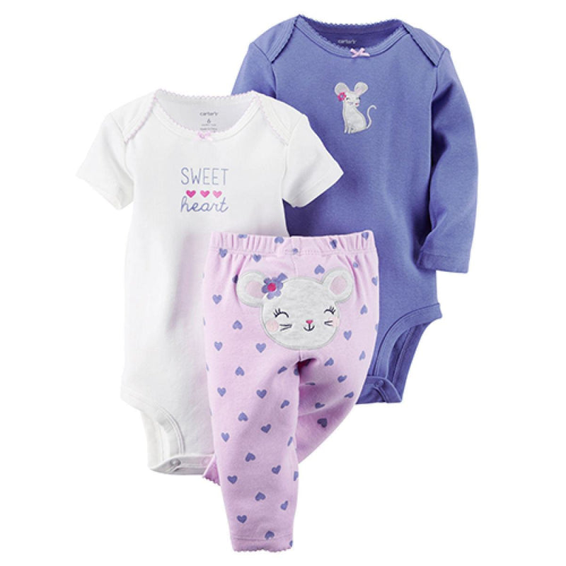 Baby Girl Carter's Sweet Heart Mouse Set
