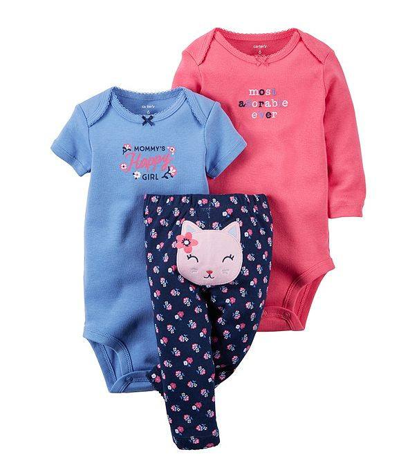 Baby Girl Carter's 3pc Happy Girl Set