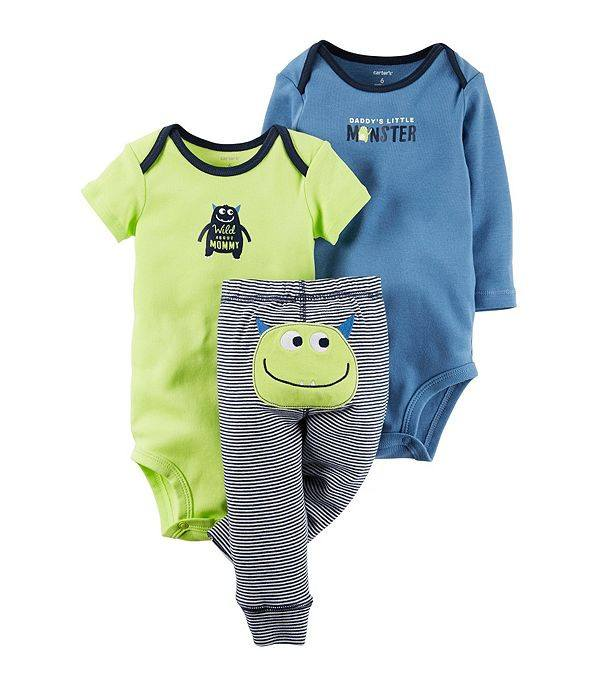 Baby Boys 3-Piece Monster Set