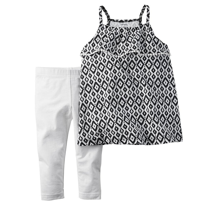 Geo-Print Tank Top and Leggings Set