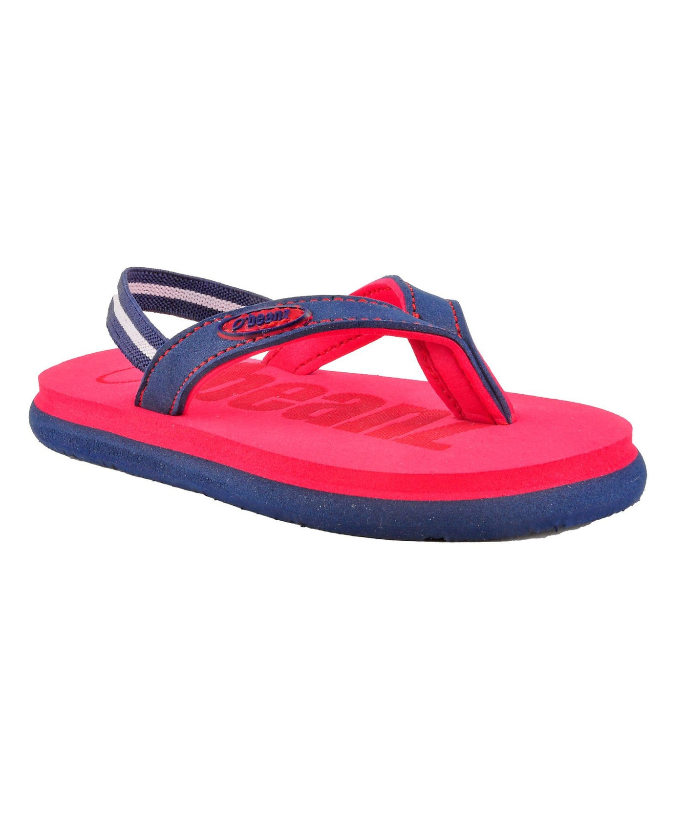 f83c1fc93a8e8c Beanz Carlin Red and Navy Flip Flops With Back Strap – Munchkinz