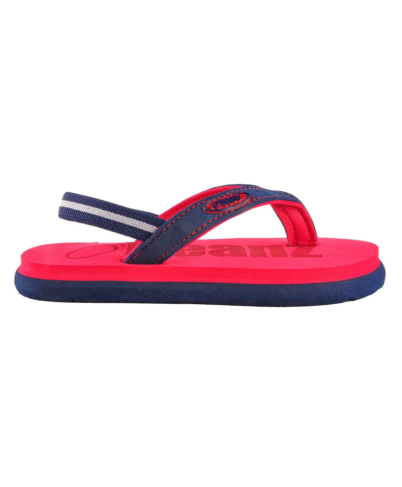 Beanz Carlin Red and Navy Flip Flops With Back Strap