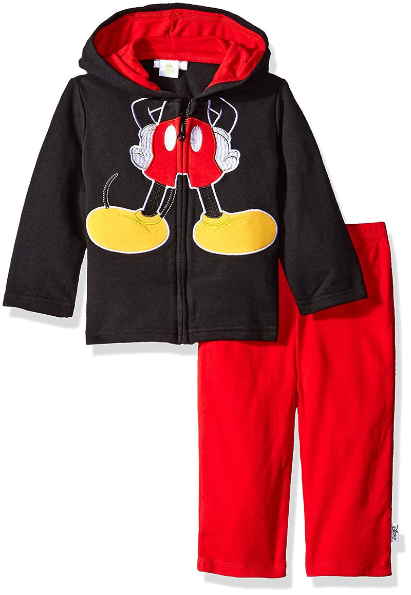 Disney Boys Red and Black Mickey Mouse Hoodie and Pants Costume Set