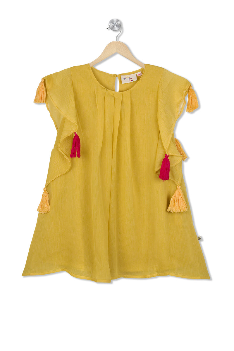Budding Bees Girls Yellow Dress