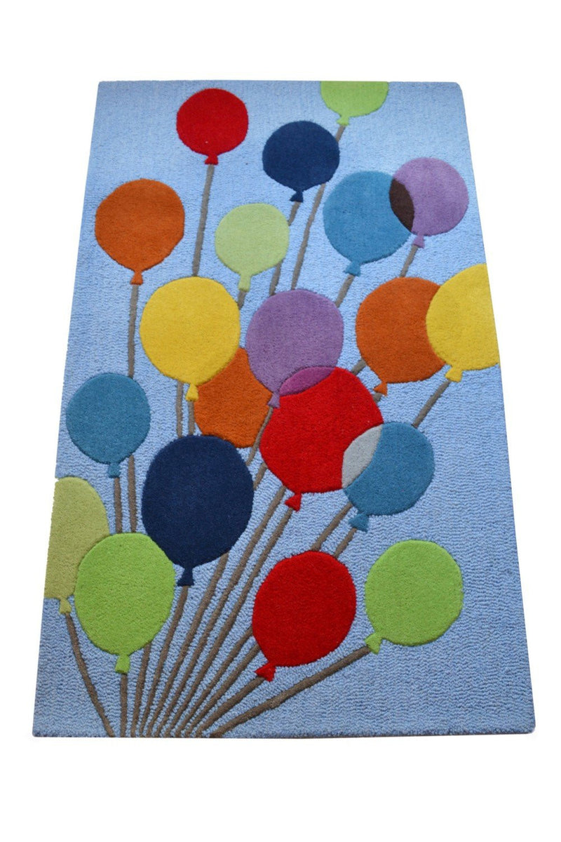 Littlelooms Blue Balloon Kids Rug