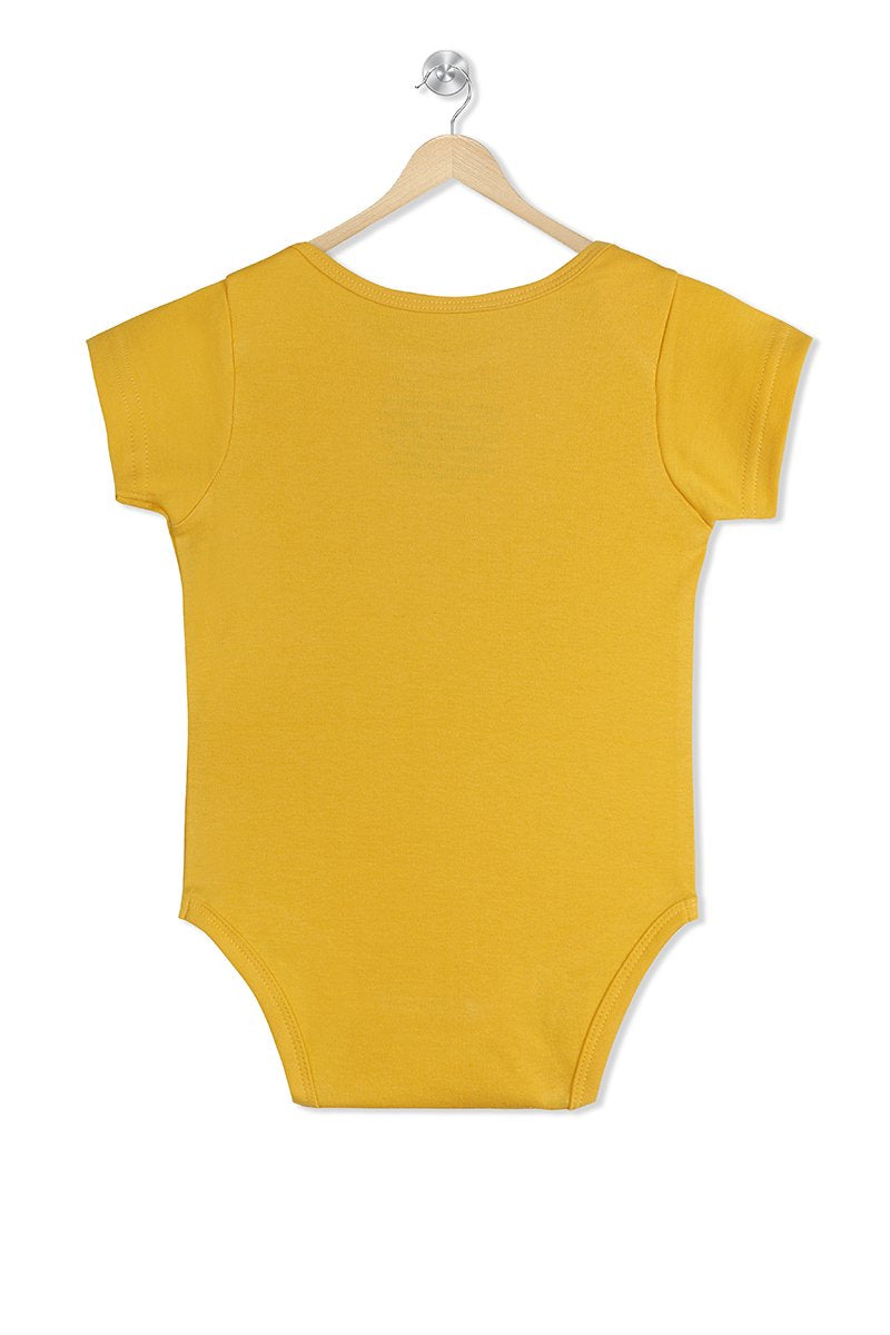 Daddy & I agree moomy is the boss organic cotton baby romper
