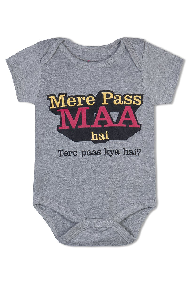 Mere Paas Maa Hai cotton baby romper
