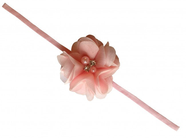 AkinosKIDS Light Pink Embellished with Diamond Flowery Headband