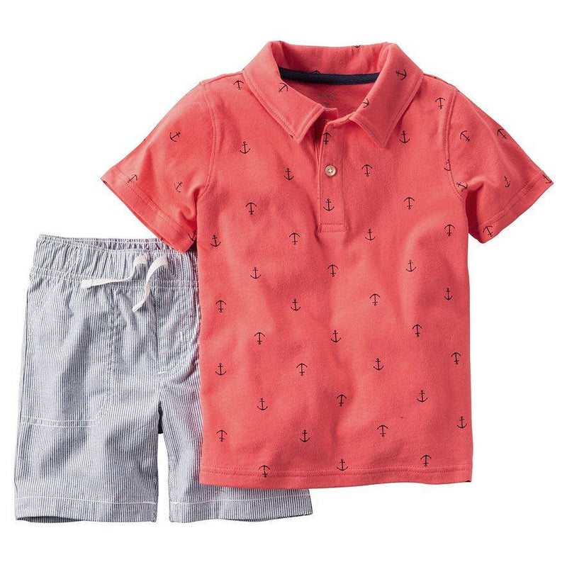 Baby Boy Carter's Nautical Polo Shirt & Shorts Set