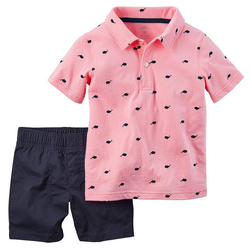 Baby Boy Carter's Whale Polo & Shorts Set