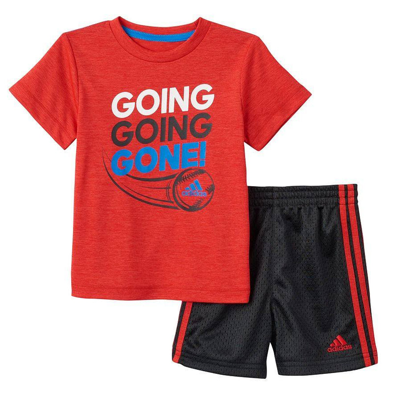 Baby Boy adidas Baseball Tee & Shorts Set