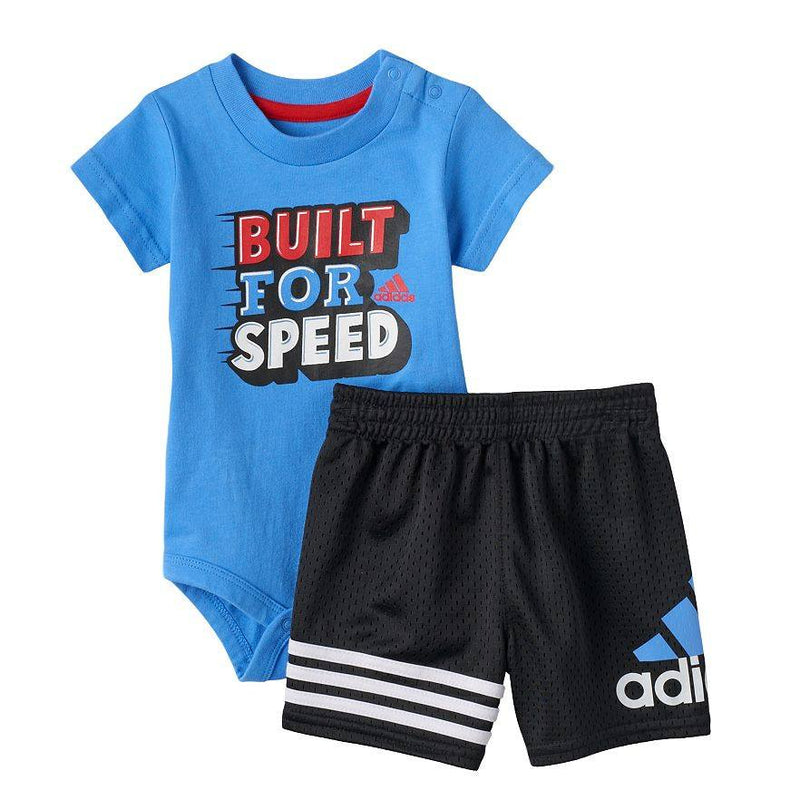 "Baby Boy adidas ""Built for Speed"" Tee & Shorts Set"