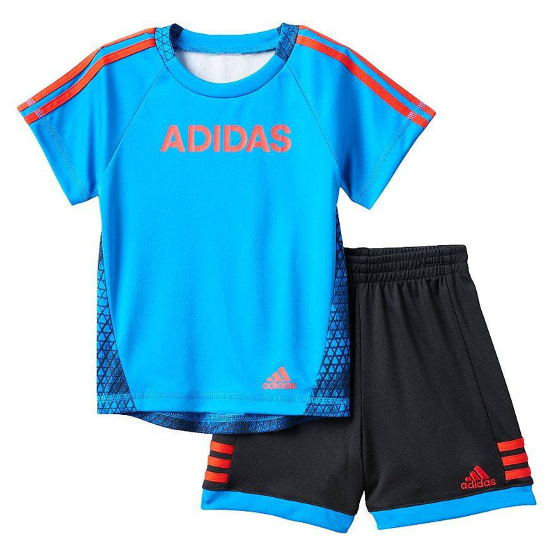 Baby Boy adidas Printed-Back Tee & Shorts Set