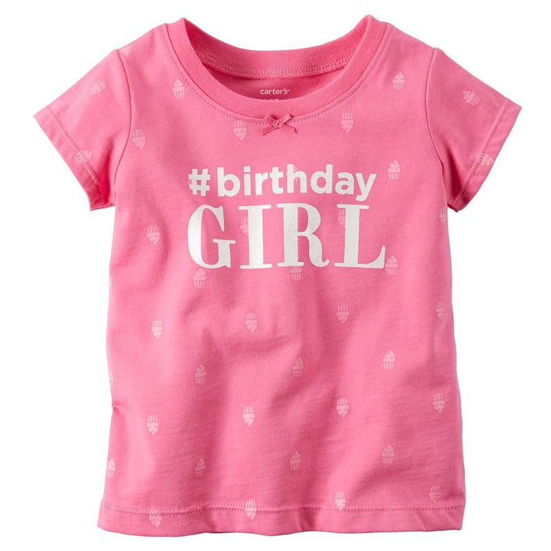 "Baby Girl Carter's ""#Birthday Girl"" Tee"