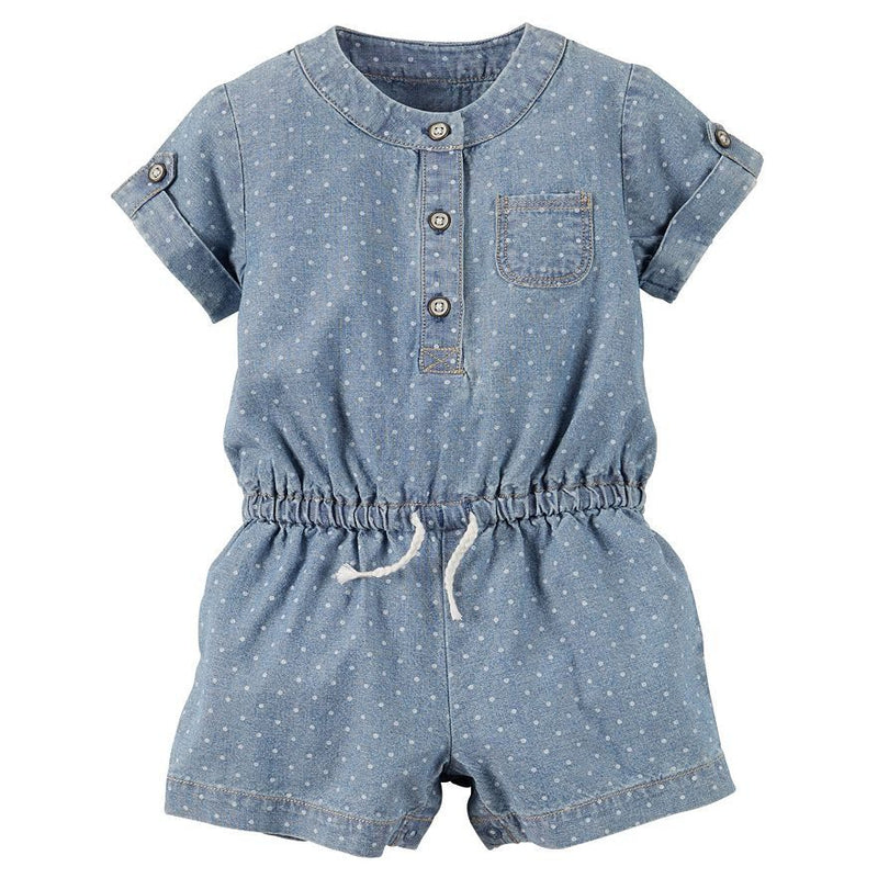 Baby Girl Carter's Chambray Romper