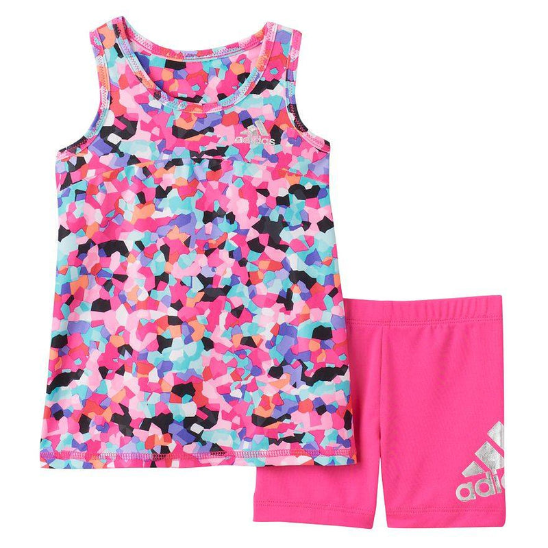 Baby Girl adidas Mosaic Tank Top & Shorts Set