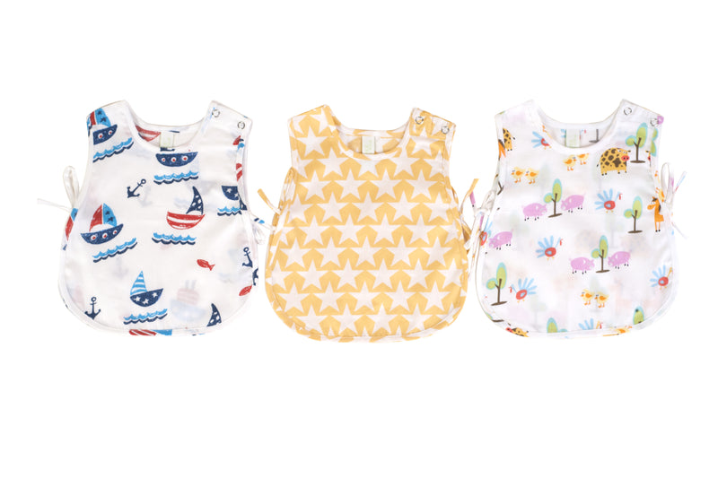 Popsicle & Nigh Nigh Boys Boat Star and Farm Printed Jhabla Set