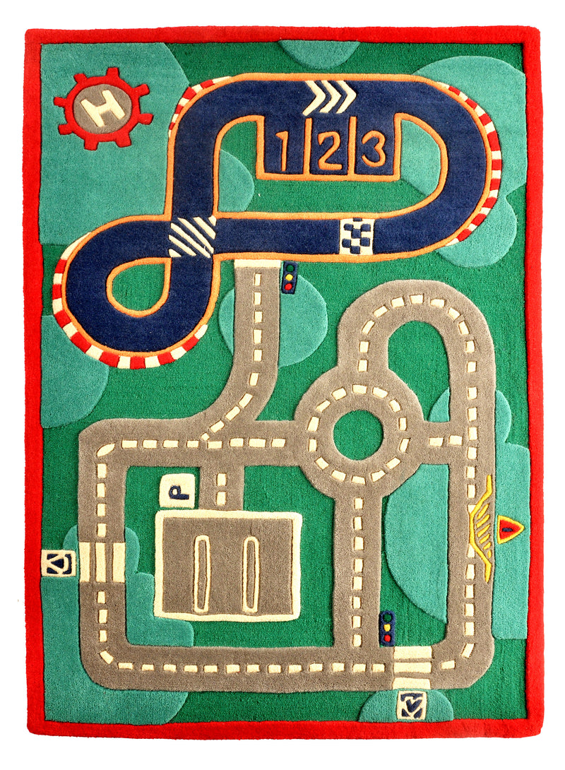 Littlelooms Race Track Kids Rug