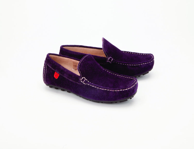 Careeno Cireo Purple Suede Leather Loafers