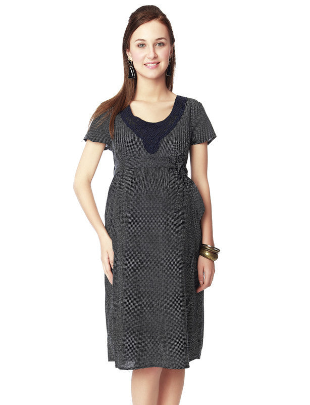 63646c0d1eb Nine Maternity Navy Blue Front Yoke Dress – Munchkinz