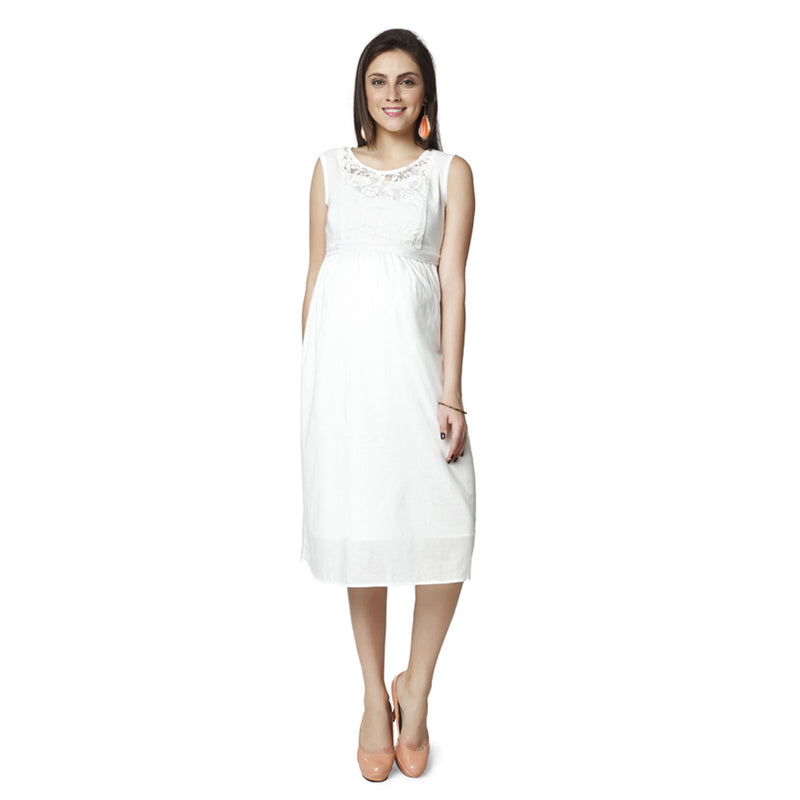 Nine Maternity White Dress