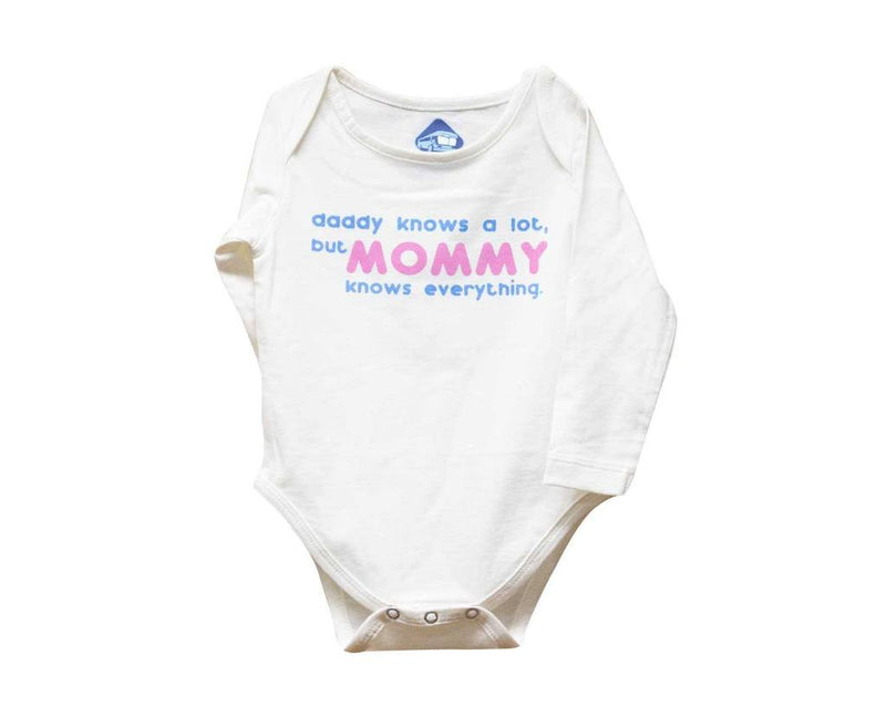 Blue Bus Store Mommy Knows Everything Printed Full Sleeves Romper