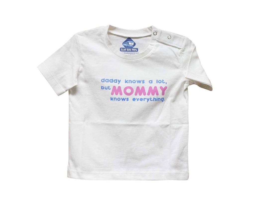 c7fa4c38 Blue Bus Store Mommy Knows Everything Printed T-shirt – Munchkinz