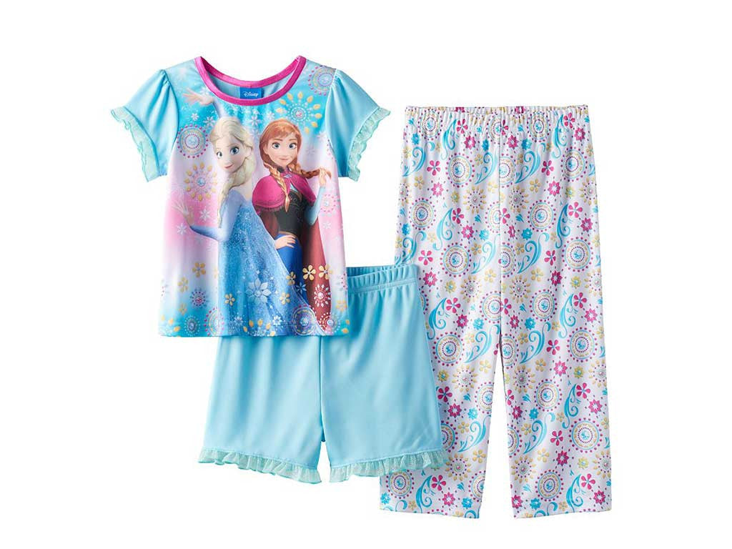 Disneys Frozen Anna Elsa Toddler Girl Graphic 3 Pc Pajama Set