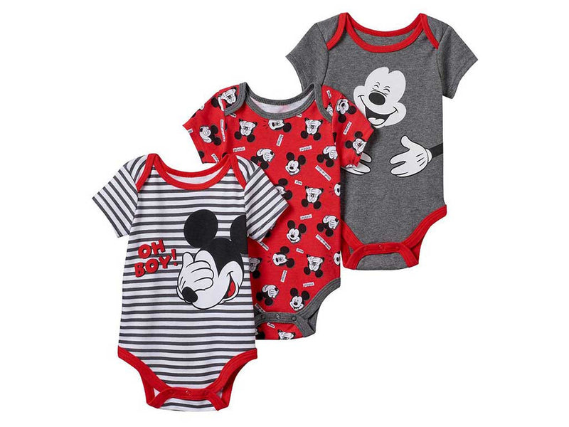Disney's Mickey Mouse 3-pk Baby Boy Bodysuits