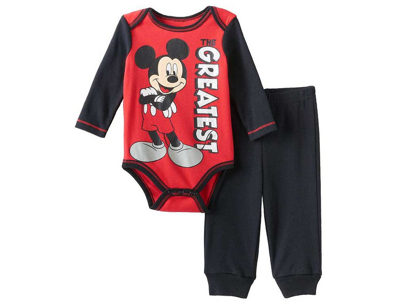 Disney's Mickey Mouse Baby Boy Bodysuit & Pants Set