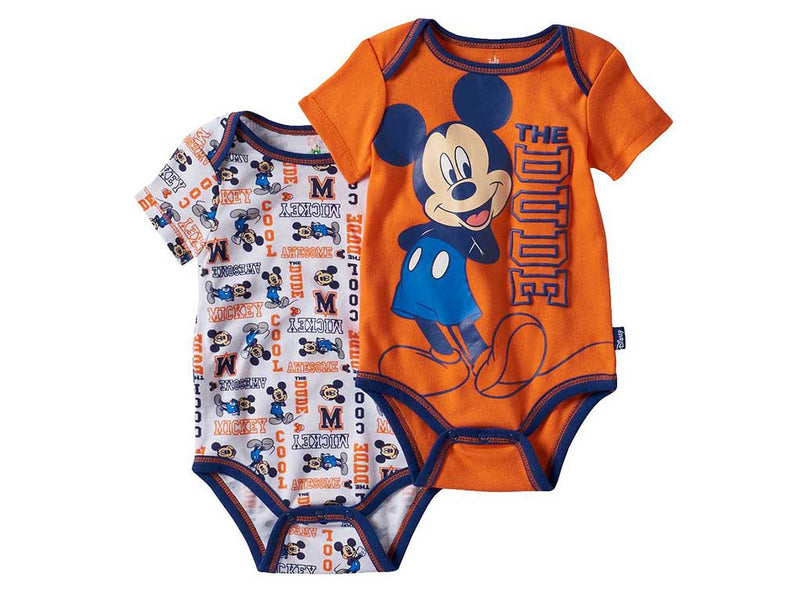 "Disney's Mickey Mouse Baby Boy ""The Dude"" 2-pk Bodysuits"