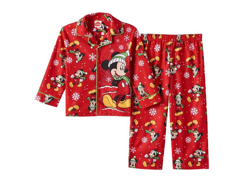 Disney's Mickey Mouse Toddler Boy Holiday Shirt & Pants Pajama Set