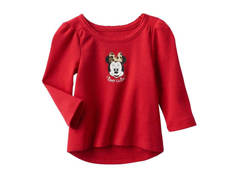 Disney's Minnie Mouse Baby Girl Graphic Thermal Tunic