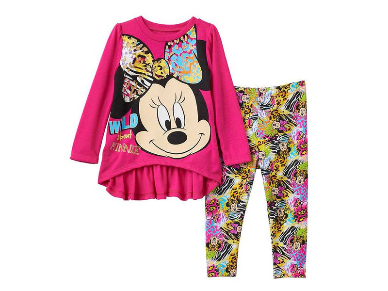 Disney's Minnie Mouse Graphic Tunic & Print Leggings Set