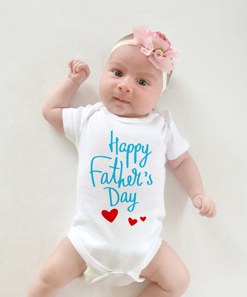 Esbe Happy Father's Day Hand Painted White Onesie