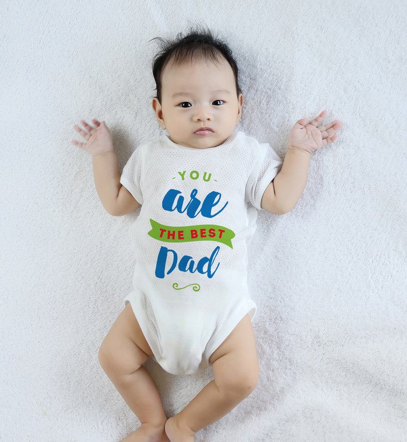 Esbe You are The Best Dad Hand Painted White Onesie