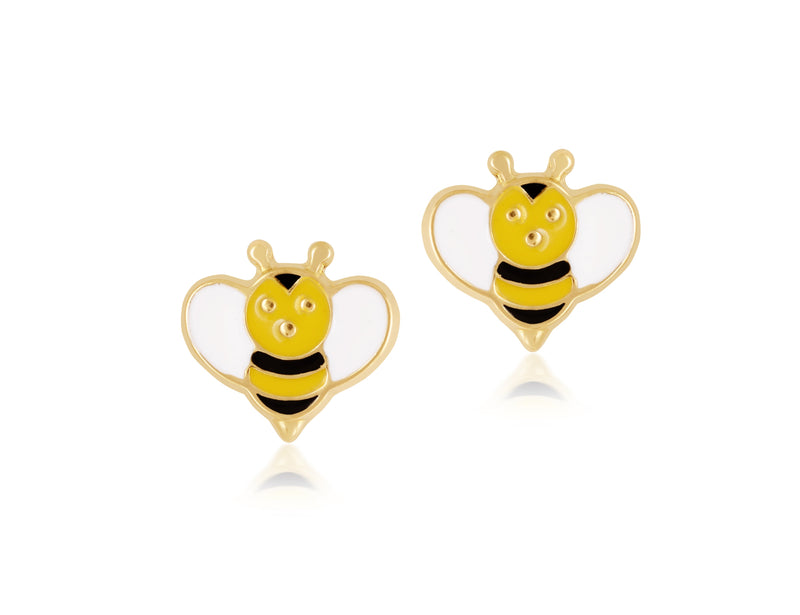 18K Gold BEE-ING YELLOW EARRINGS by Gempetit