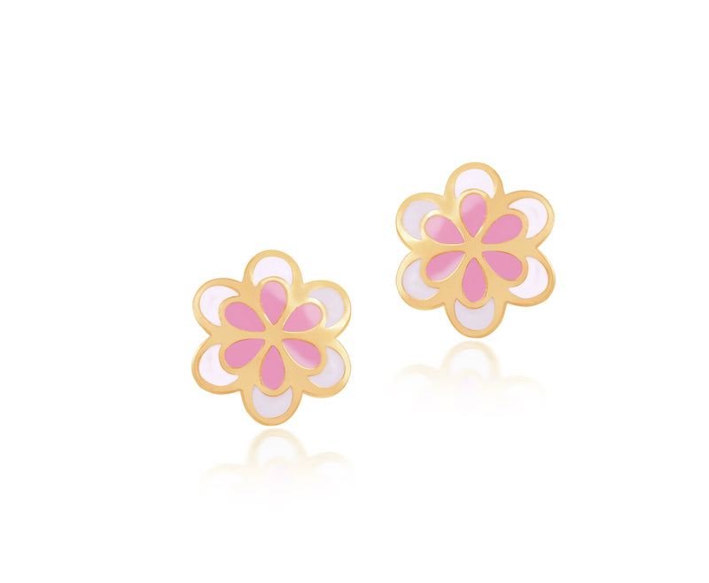 18K Gold FLOWERING OUT EARRINGS by Gempetit