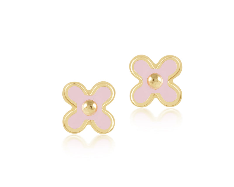18K Gold PRETTY IN PINK EARRINGS by Gempetit