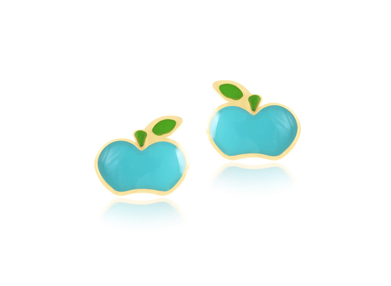 18K Gold AN APPLE A DAY EARRINGS by Gempetit