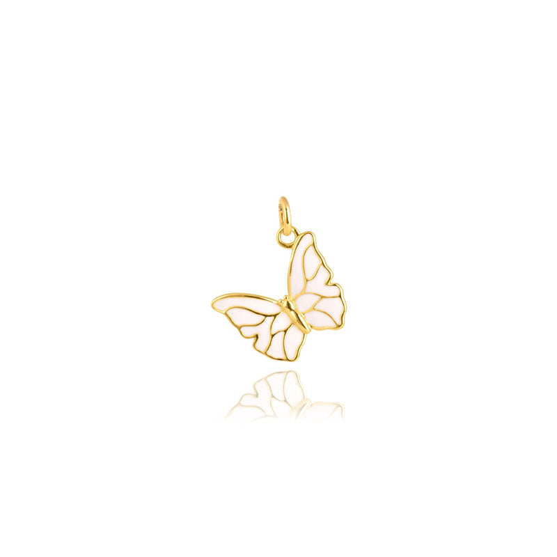 Gempetit YELLOW GOLD Plated THE MONARCH BUTTERFLY PENDANT