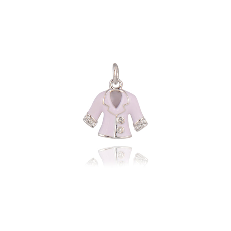 Gempetit WHITE GOLD Plated AN ACTOR'S COAT PENDANT