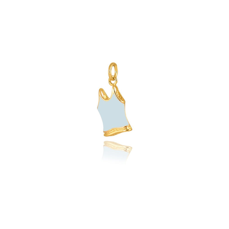 Gempetit YELLOW GOLD Plated FOR MY WORKOUTS PENDANT