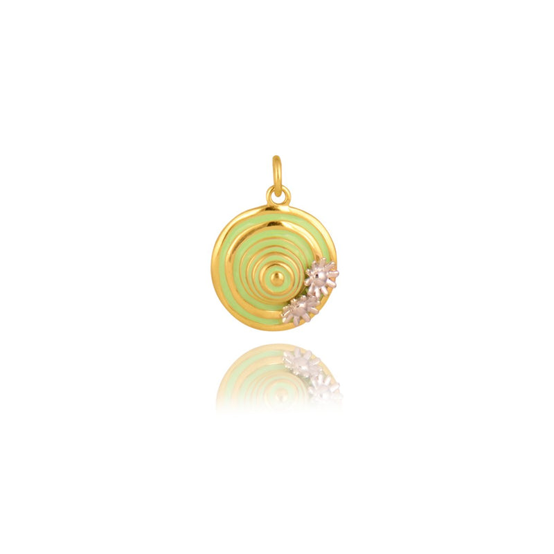 Gempetit YELLOW GOLD Plated RACE COURSE HAT PENDANT