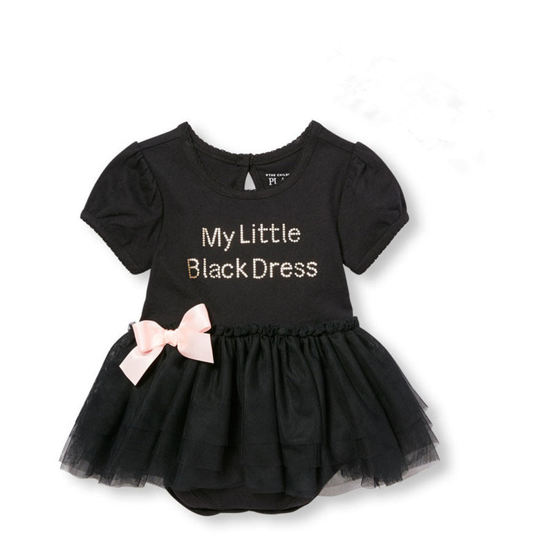 5729e2eb2730 Meemu Girls' Black My First LBD - Little Black Dress – Munchkinz