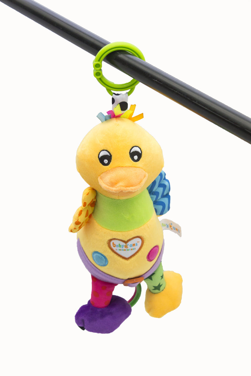 Zap Diaries Yellow Duck Musical Plush Toy