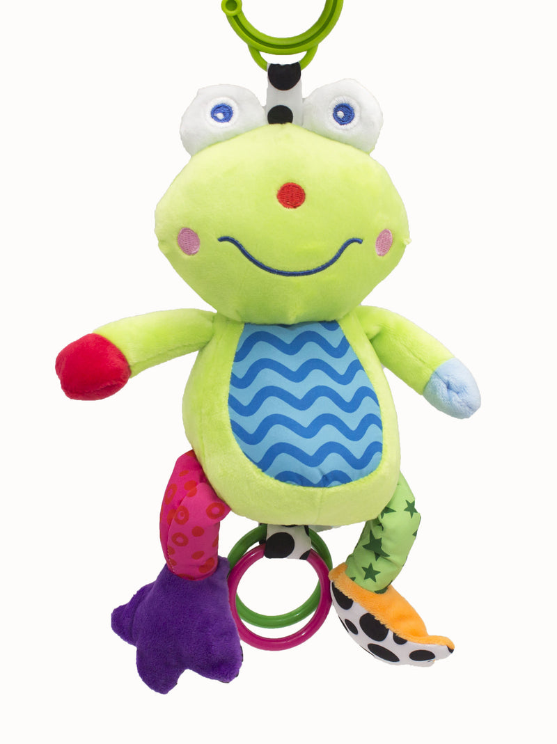 Zap Diaries Green Frog Musical Plush Toy