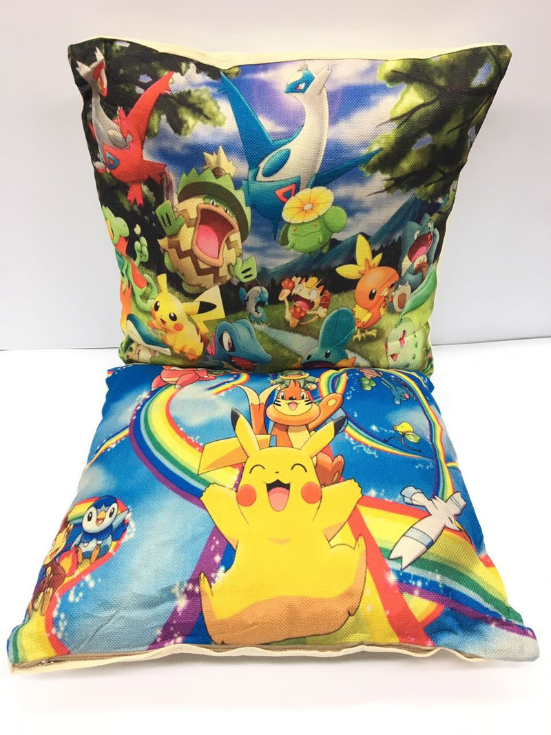 Zap Diaries Blue Pokemon Printed Cushion Set